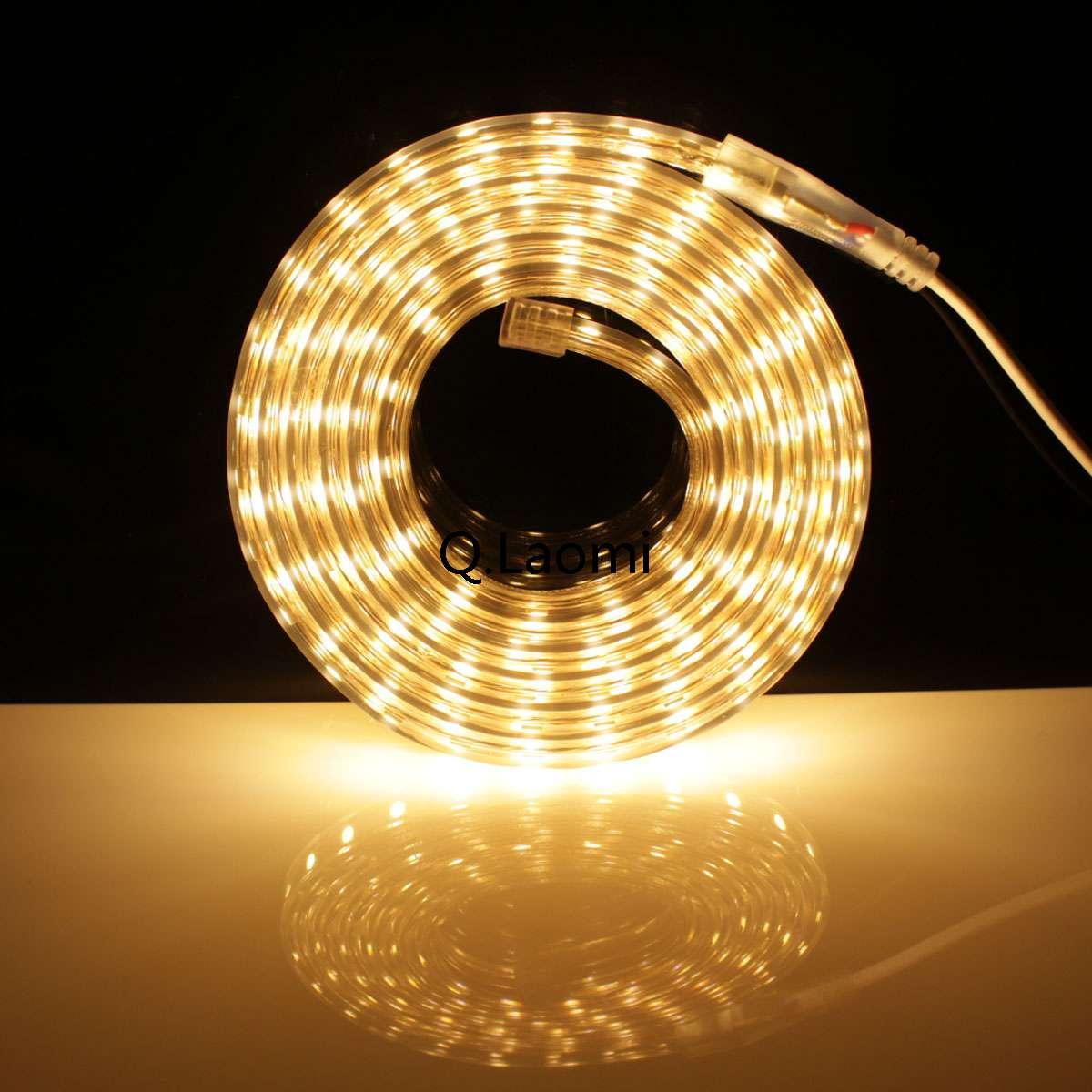 led streifen mit schalter 230v 5050 ip65 lichtband 1m warmwei von q laomi home q laomi. Black Bedroom Furniture Sets. Home Design Ideas